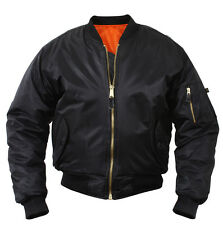 abfd30716bed Black Military MA-1 CCW Bomber Coat Flight Jacket Concealed Carry rothco  77350