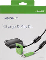 Xbox 360 Play Charge Kit 10' USB Controller Cable & 1200mAh Rechargeable Battery