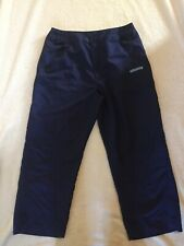 ELLESSE navy Blue Cropped Lightweight Sports / Running Trousers Size 12 VGC