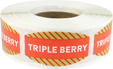 Triple Berry Grocery Market Stickers, 0.75 x 1.375 Inches, 500 Labels Total