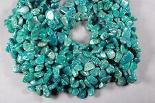 "LOVELY TEAL RUSSIAN AMAZONITE DROP CHIP BEADS 10-20MM 15.5"" STR"