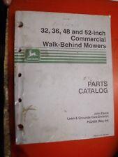 JOHN DEERE 32 36 48 52 COMMERCIAL WALK BEHIND MOWERS PARTS CATALOG MANUAL