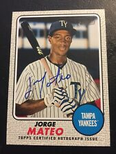 2017 Topps Heritage Minors Jorge Mateo Real One Auto White #/25 Oakland Athletic