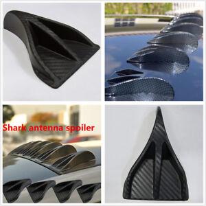 8 x Universal Carbon Fiber Look Car Roof Vortex Generator Shark Fin Spoiler Wing