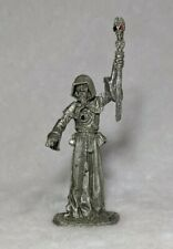 Vintage Jeweled Pewter Wizard with Staff Gallo Daley Figurine 3.5 in. Tall