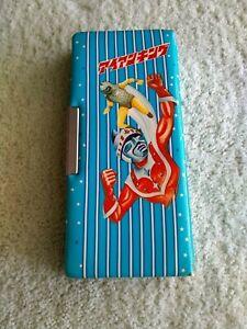 Rare Vintage Iron King Japanese Pencil Case Box