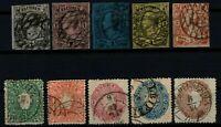[P02] GERMAN STATE SAXONY / 1855-63, LOT, USED, CV 310€