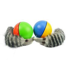 New Funny Pet Dog Puppy Cat Rolling Ball with Weasel Motorized Appears Jump Toy
