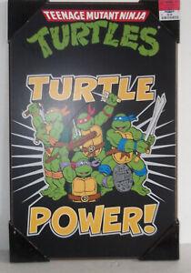 ✰ Rare Teenage Mutant Ninja Turtles Wooden Wall Poster Original TMNT artwork dis