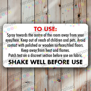 Safety Labels Room Spray Stickers Air Freshener Warning Instruction Packaging