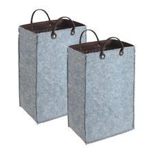 2x WENKO Filz Aufbewahrungsbox 45 L faltbar Wäschesammler Wäschekorb Wäschebox