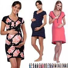 Zeta Ville - Women's Maternity Nursing Nightdress Breastfeeding Nightie - 981c