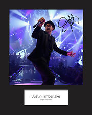 JUSTIN TIMBERLAKE #1 Signed Photo Print 10x8 Mounted Photo Print - FREE DELIVERY