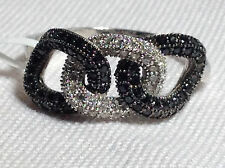 Double Knot Ring - Sterling Silver Cable Ring - Micro Pave - CZ - Cocktail Ring
