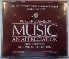 "3 CDs ""ROGER KAMIEN AN APPRECIATION"" Fifth Edition Second Brief Edition A1117"