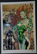 Poison Ivy Catwoman Art Print Jim Lee Alex Sinclair 2013 San Diego Comic Con