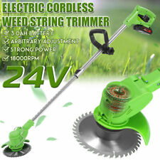 Cordless String Lawn Mower Grass Trimmer Weed Eater W/24V Lithium-ion Batteries