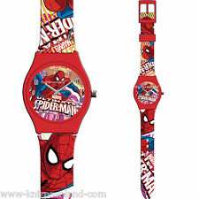 1SpiderMan Armband Uhr Analog Kinderuhr Kinder Silikon Armbanduhr Marvel Spider