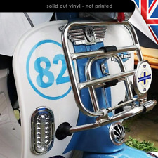 Round Number Vinyl Decals Sticker Vespa Lambretta Scooter Oanel Number 2124-0219