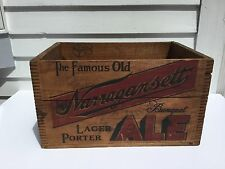 Narragansett Beer 1945 Dovetailed Wooden Beer Crate