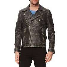 NWT $1095 MCS Marlboro classic Black Leather Biker Perfecto Size XL