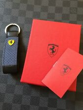 Genuine Ferrari Leather Alcantara Keyring Super Rare Highly collectible Italy