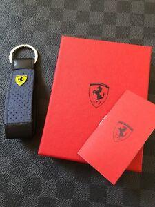 Genuine Ferrari Leather Alcantara Keyring Super Rare Highly collectible Italy