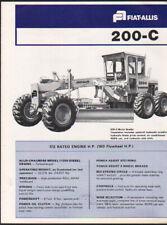 """FIAT-ALLIS """"200-C"""" Motor Grader Brochure Leaflet"""