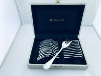 Christofle RUBANS Flatware dessert cake set Forks -12 Pers Top!