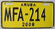 Aruba 2009 MOTORCYCLE License Plate # MFA-214
