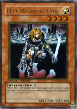 YuGiOh D.D. Warrior Lady - GLD1-EN015 - Gold Rare - Limited Edition Light Play
