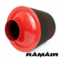 Ramair 80mm Od Neck Red Large Aluminium Base Foam Air Filter Induction Intake