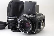 【Rare Mint】 Zenza Bronica S2 Rare Black late model w/ Nikkor P 75mm F/2.8  #227