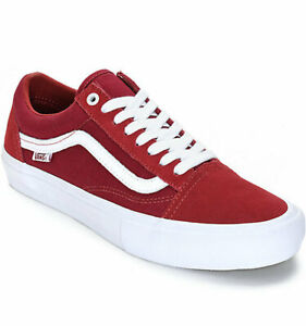 VANS OLD SKOOL PRO SUADE CANVAS (DARK RED) UNISEX Shoes BRAND  NEW in BOX!!