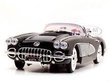 1958 CHEVROLET CORVETTE BLACK 1:18 DIECAST MODEL CAR BY MOTORMAX 73109