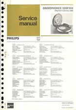 Philips service manual pour 22 GF 303