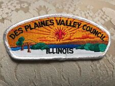 BSA VINTAGE DES PLAINES VALLEY COUNCIL RARE WHITE BORDER CSP FLAWED MINT NEW