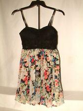 #1849 SENSATIONAL PARTY/SUMMER DRESS FROM MATERIAL GIRL,SZ LG, SEE THRU MIDRIFF