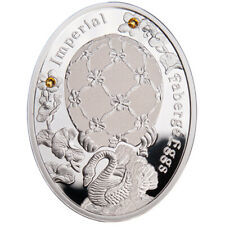 Swan Egg Imperial Faberge Eggs Proof Silver Coin 1$ Niue 2012