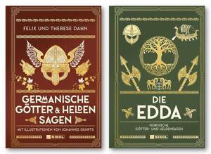 Germanische Götter- und Heldensagen + Die Edda 2 Bücher im Paket
