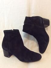 Sam Edelman Black Ankle Suede Boots Size 38.5