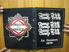 Cheap Trick Concert Tour Book 1979 Japan Dream Police Niot a Poster Cd Record