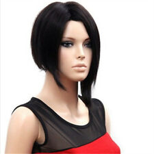Feibin Synthetic Short Wig For Women Nature Black Straight Bob Hair Cosplay Wigs