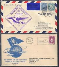 IRELAND TO UK NEW BRUNSWICK SHANNON BOTWOOD 1943 46 TWO FIRST FLIGHT COVERS TO