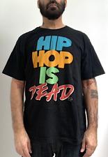 Vintage Hip Hop Is Dead T-Shirt Black Xl Punk Emo Rap Urban Parody Hipster Rare