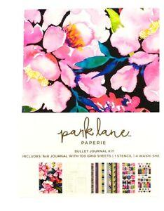 Park Lane Paperie Bullet  6x8 Journal 100 Grid Sheets 1 Stencil 4 Washi Sheets
