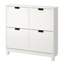 IKEA STÄLL Schuhschrank 4 Fächer, weiß, Schuhaufbewahrung [96x90cm] Schuhregal