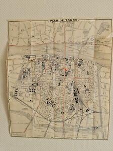 Carte ancienne de la ville de Tours - Fin XIXe début XXe