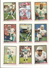 1991 Bowman Miami Dolphins Football Card Team Set (21 Different)