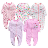 Baby Boys/Girls Unisex 100% Cotton Sleepwear Playsuits Babygrow Bodysuit Rompers